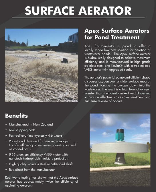 NEW Surface Aerators Low Cost Aeration Of Wastewater Ponds